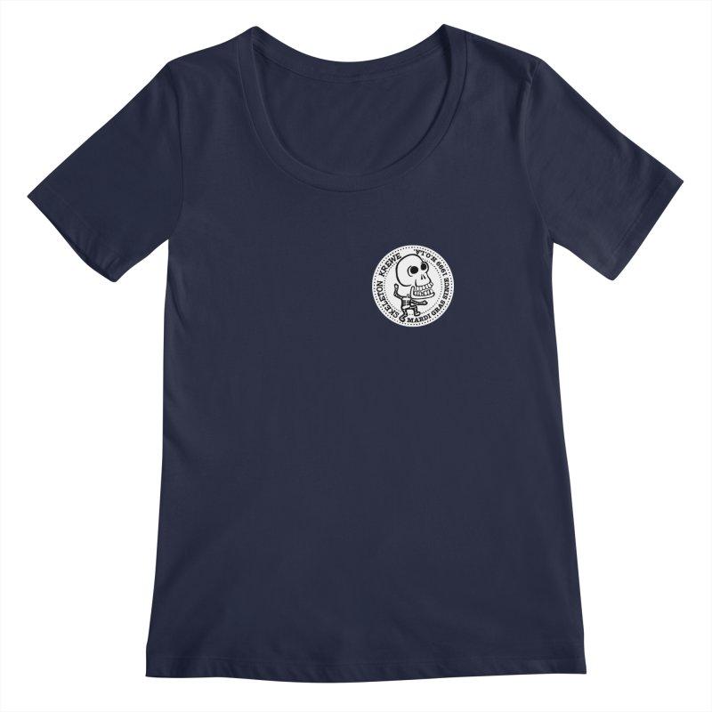 Skeleton Krewe Small Logo Women's Regular Scoop Neck by Skeleton Krewe's Shop