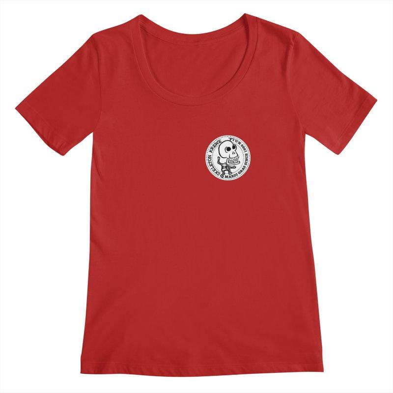 Skeleton Krewe Small Logo Women's Scoopneck by Skeleton Krewe's Shop