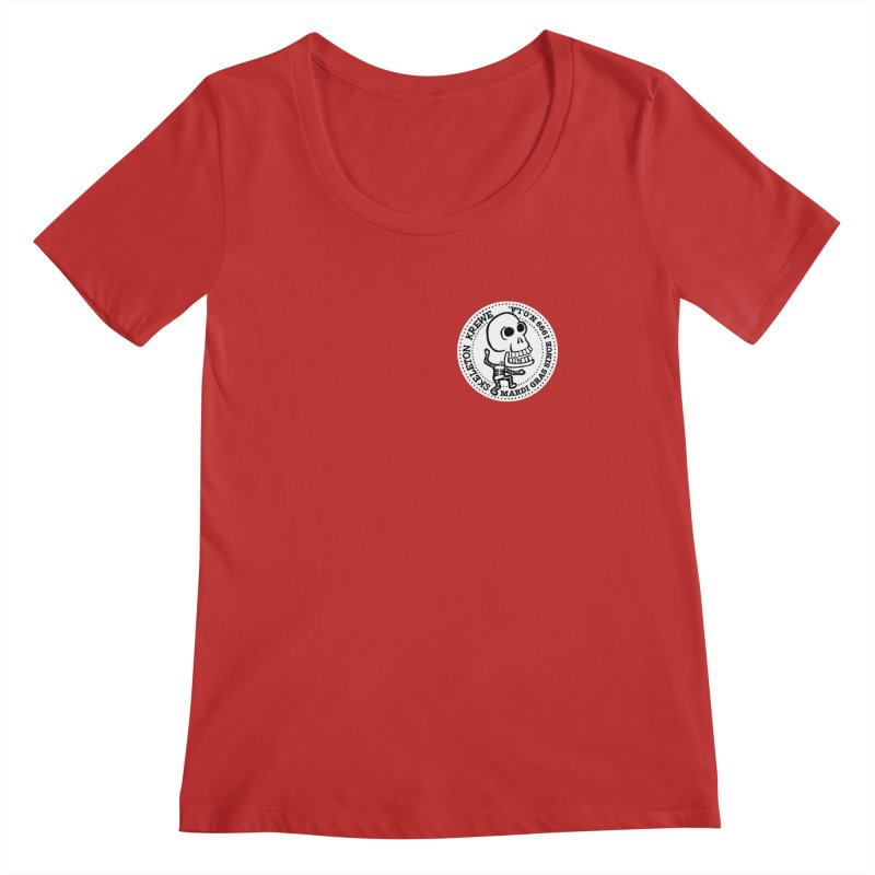 Skeleton Krewe Small Logo Women's Regular Scoop Neck by Skeleton Krewe's Shop