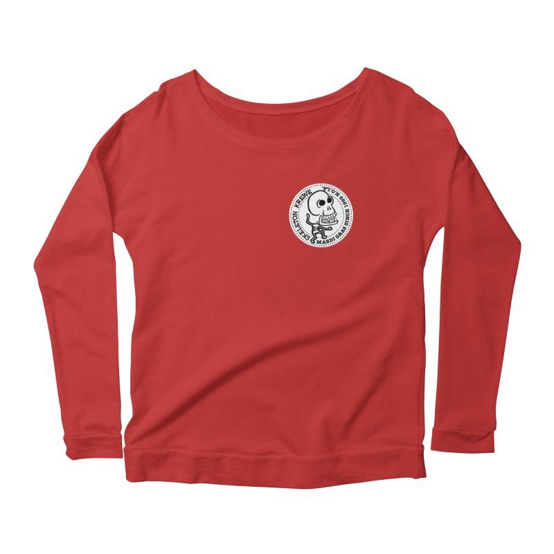 Skeleton Krewe Small Logo Women's Scoop Neck Longsleeve T-Shirt by Skeleton Krewe's Shop