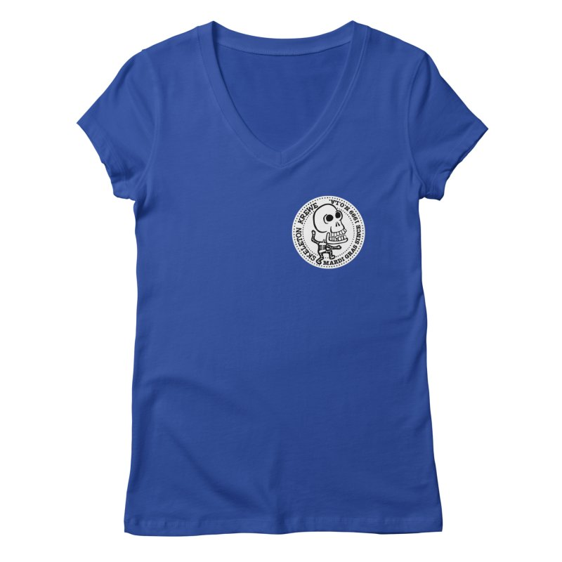 Skeleton Krewe Small Logo Women's Regular V-Neck by Skeleton Krewe's Shop