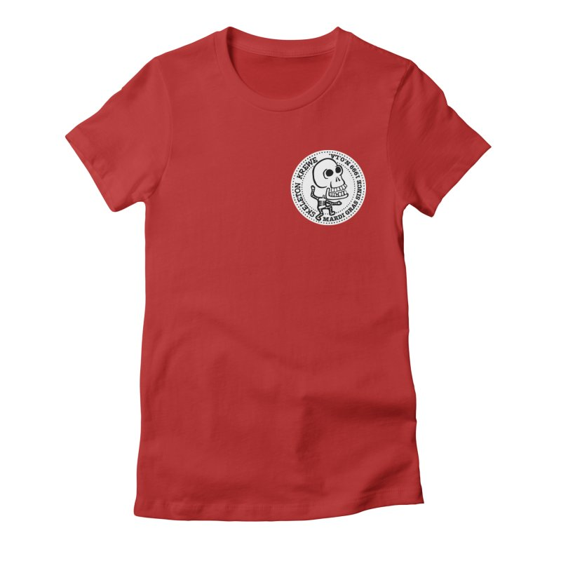 Skeleton Krewe Small Logo Women's Fitted T-Shirt by Skeleton Krewe's Shop