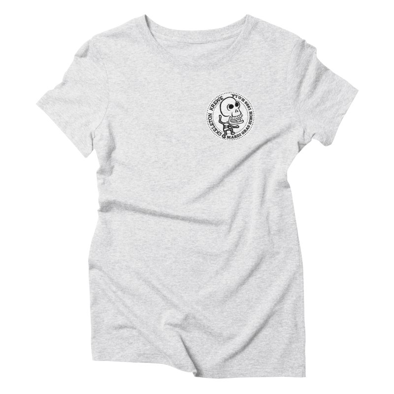 Skeleton Krewe Small Logo Women's Triblend T-Shirt by Skeleton Krewe's Shop