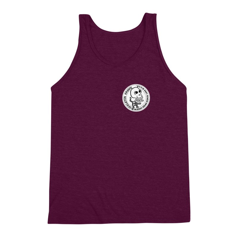 Skeleton Krewe Small Logo Men's Triblend Tank by Skeleton Krewe's Shop