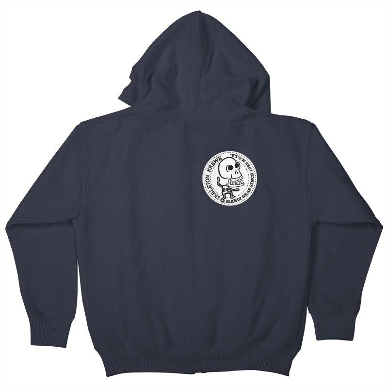 Skeleton Krewe Small Logo Kids Zip-Up Hoody by Skeleton Krewe's Shop
