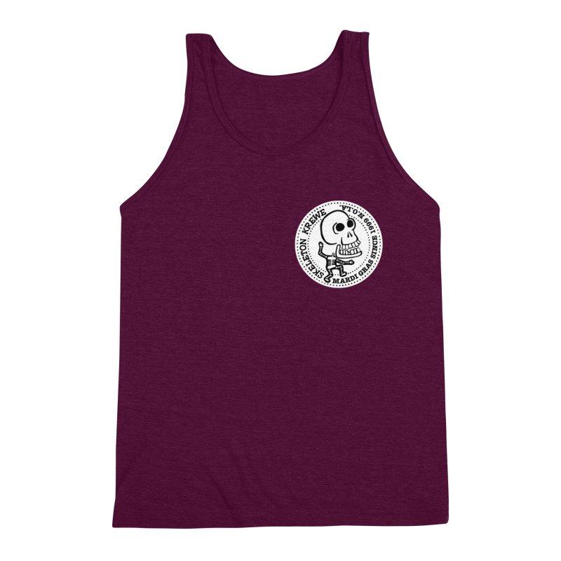 Skeleton Krewe Small Logo Men's Triblend Tank by Skeleton Krewe's Shop