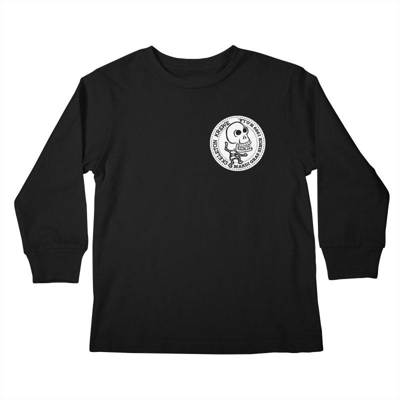 Skeleton Krewe Small Logo Kids Longsleeve T-Shirt by Skeleton Krewe's Shop