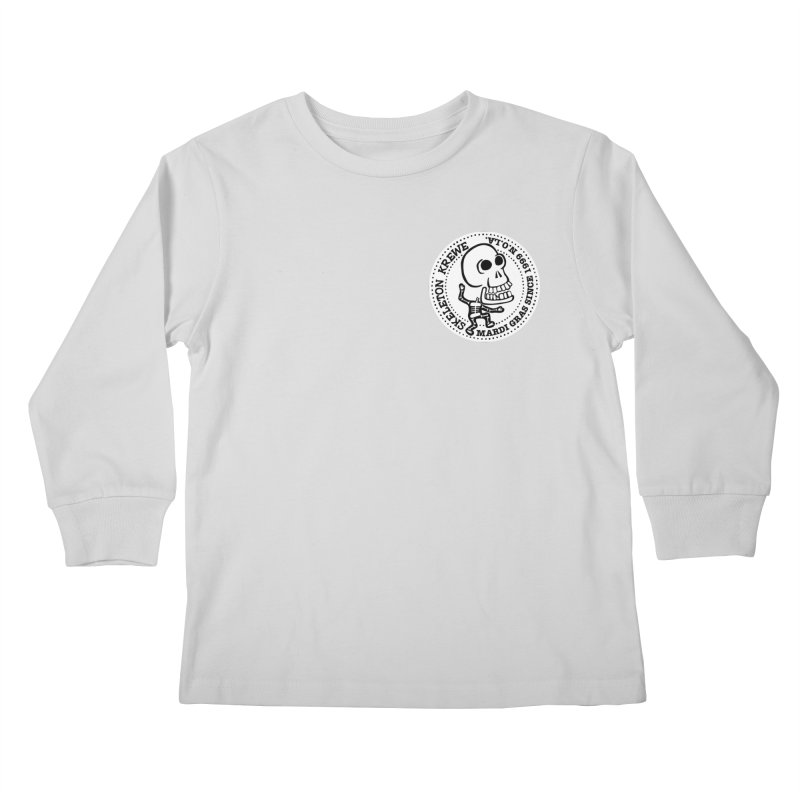 Skeleton Krewe Small Logo Kids Longsleeve T-Shirt by Skeleton Krewe's Shop