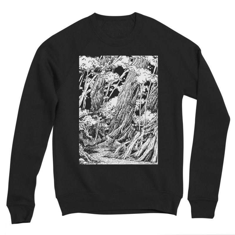 Chill Forest Men's Sponge Fleece Sweatshirt by Skeleton Weather