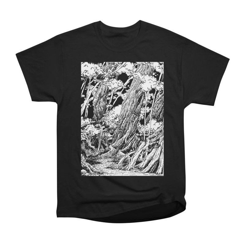 Chill Forest Men's Heavyweight T-Shirt by Skeleton Weather
