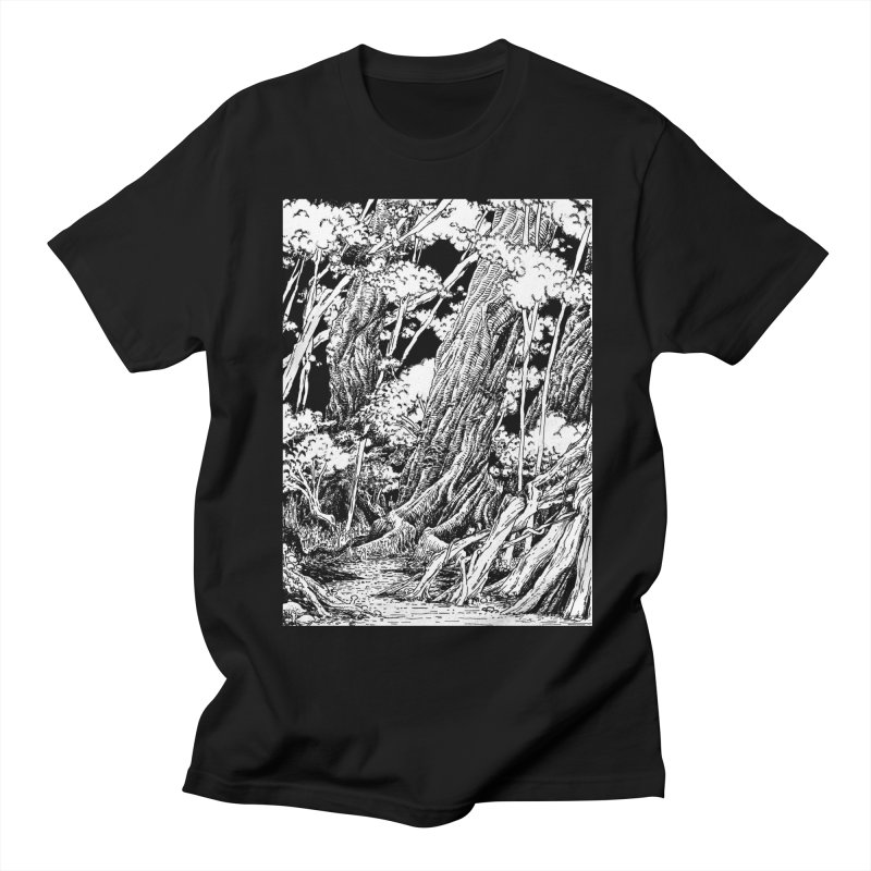 Chill Forest Men's T-Shirt by Skeleton Weather