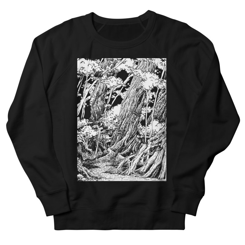 Chill Forest Men's French Terry Sweatshirt by Skeleton Weather