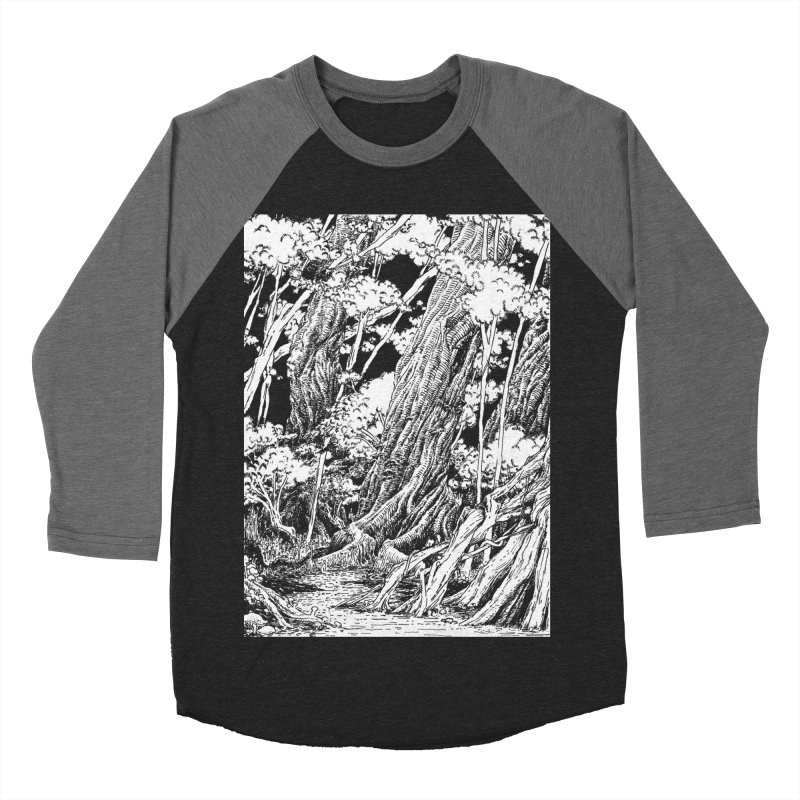 Chill Forest Women's Baseball Triblend Longsleeve T-Shirt by Skeleton Weather