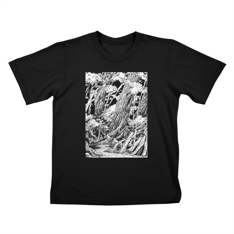 Chill Forest Kids T-Shirt by Skeleton Weather