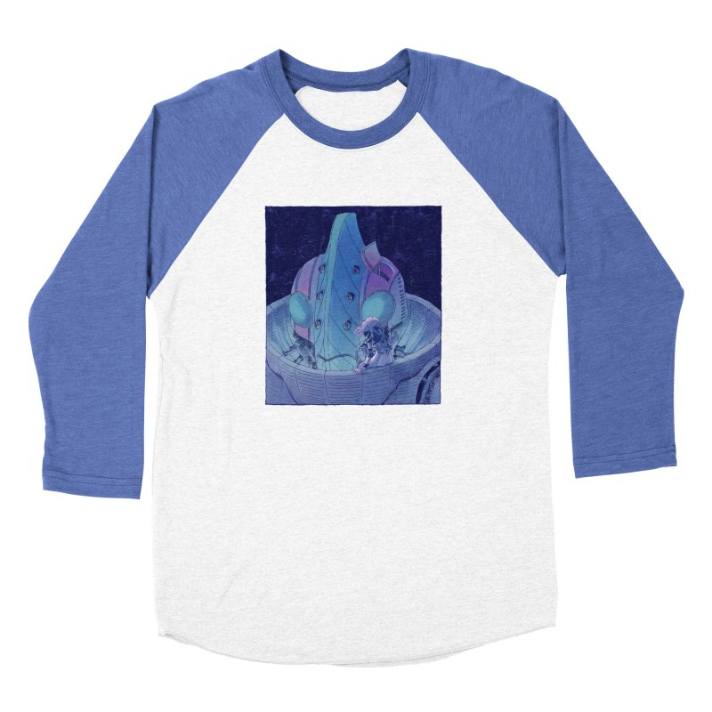 Giant Robot Women's Longsleeve T-Shirt by Skeleton Weather