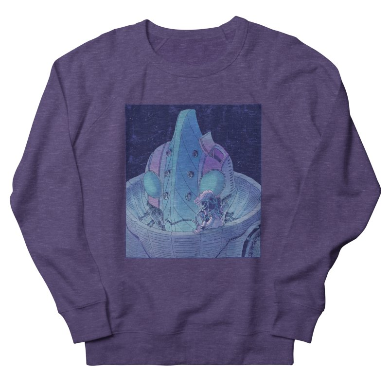 Giant Robot Women's French Terry Sweatshirt by Skeleton Weather