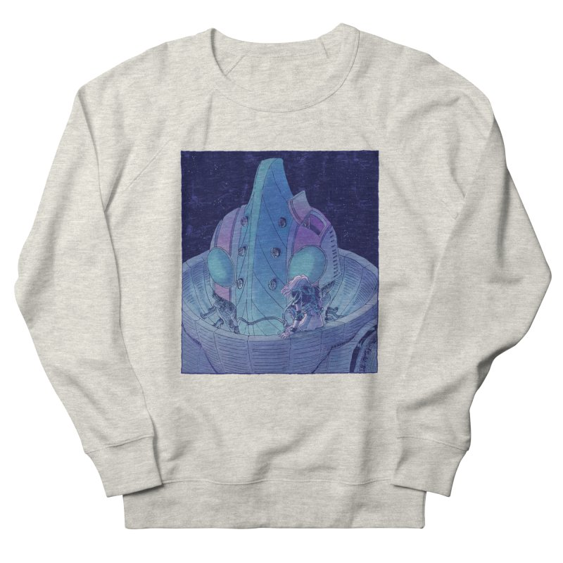 Giant Robot Men's French Terry Sweatshirt by Skeleton Weather