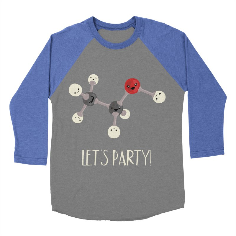 Let's Party! Men's Baseball Triblend T-Shirt by Skepticool's Artist Shop