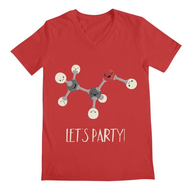 Let's Party! Men's V-Neck by Skepticool's Artist Shop