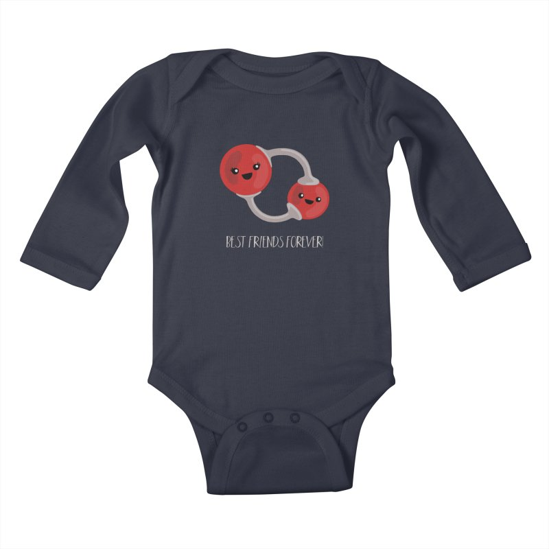 Best Friends Forever Kids Baby Longsleeve Bodysuit by Skepticool's Artist Shop