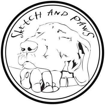 Sketch and Paws Logo