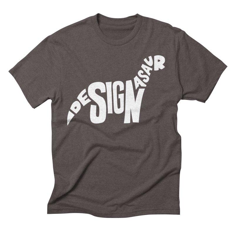 Designasaur in Men's Triblend T-shirt Tri-Coffee by Sketchbook B