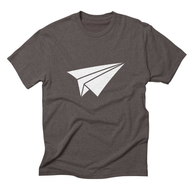 Paper Airplane in Men's Triblend T-shirt Tri-Coffee by Sketchbook B