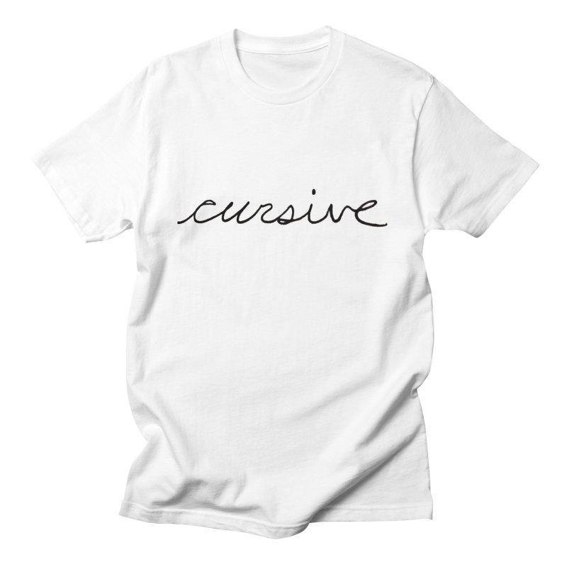 Cursive Men's T-Shirt by Sketchbook B