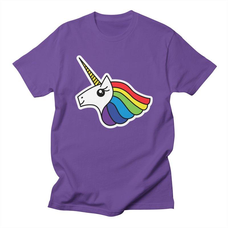 Team Rainbow Unicorn Men's T-Shirt by Sketchbook B