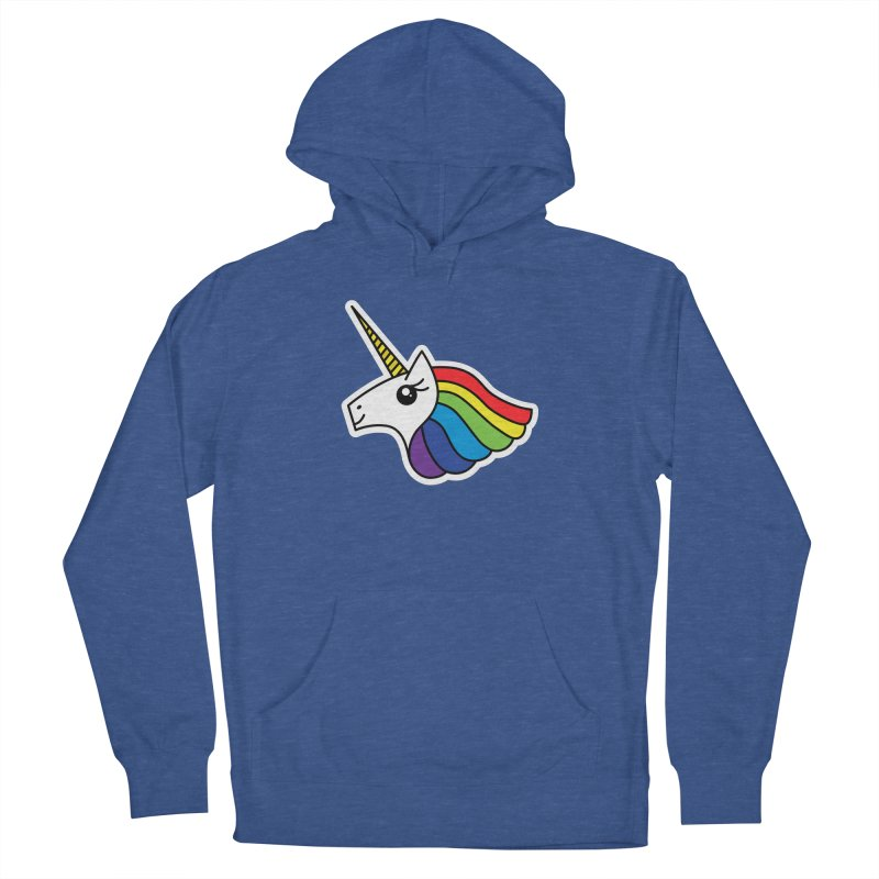Team Rainbow Unicorn Women's French Terry Pullover Hoody by Sketchbook B