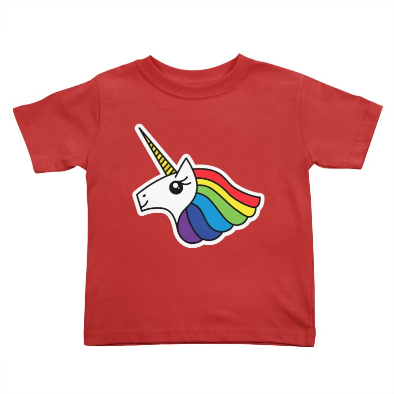 Team Rainbow Unicorn Kids Toddler T-Shirt by Sketchbook B