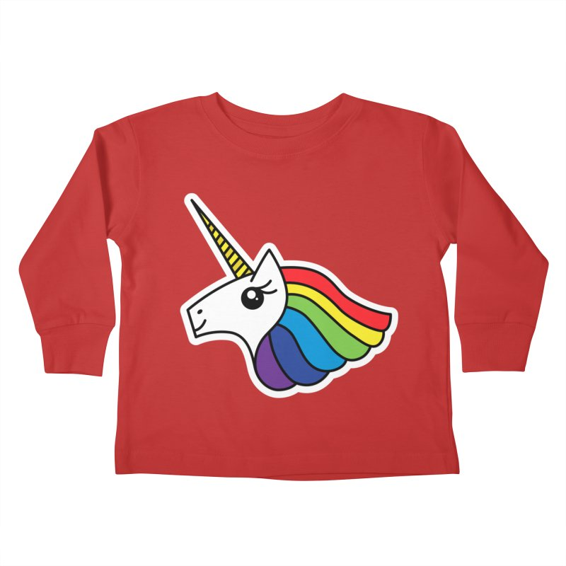 Team Rainbow Unicorn Kids Toddler Longsleeve T-Shirt by Sketchbook B