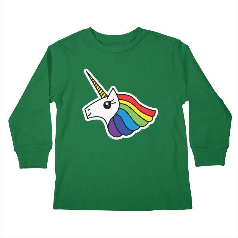 Team Rainbow Unicorn Kids Longsleeve T-Shirt by Sketchbook B