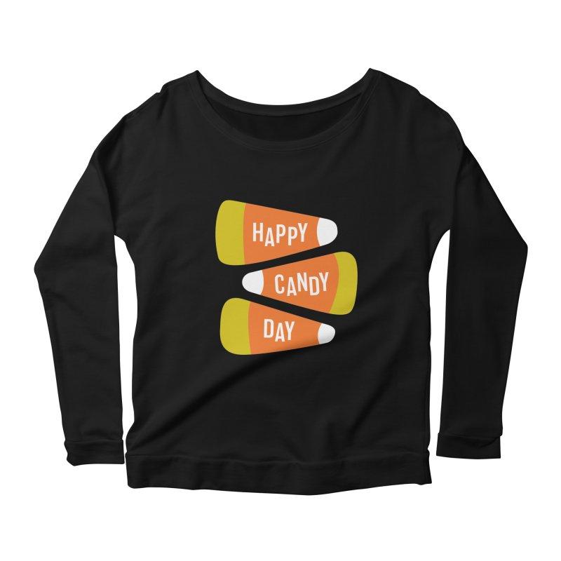 Happy Candy Day! Women's Scoop Neck Longsleeve T-Shirt by Sketchbook B