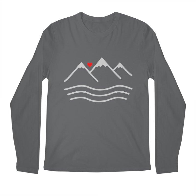 Mountains and Oceans Men's Longsleeve T-Shirt by Sketchbook B