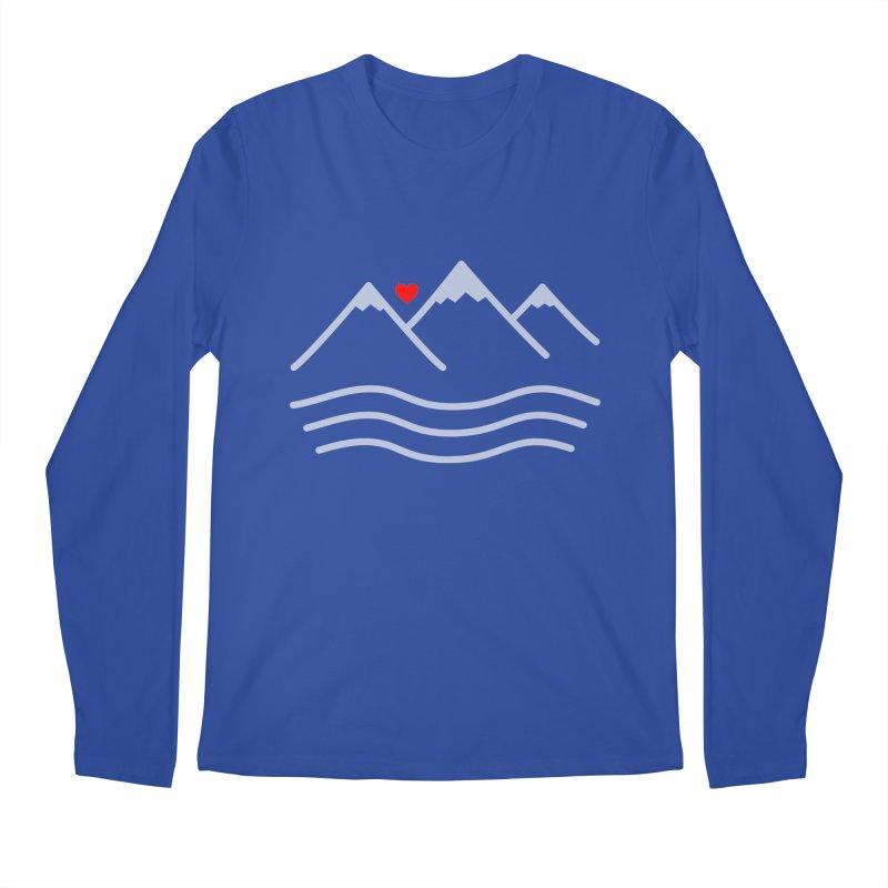 Mountains and Oceans Men's Regular Longsleeve T-Shirt by Sketchbook B