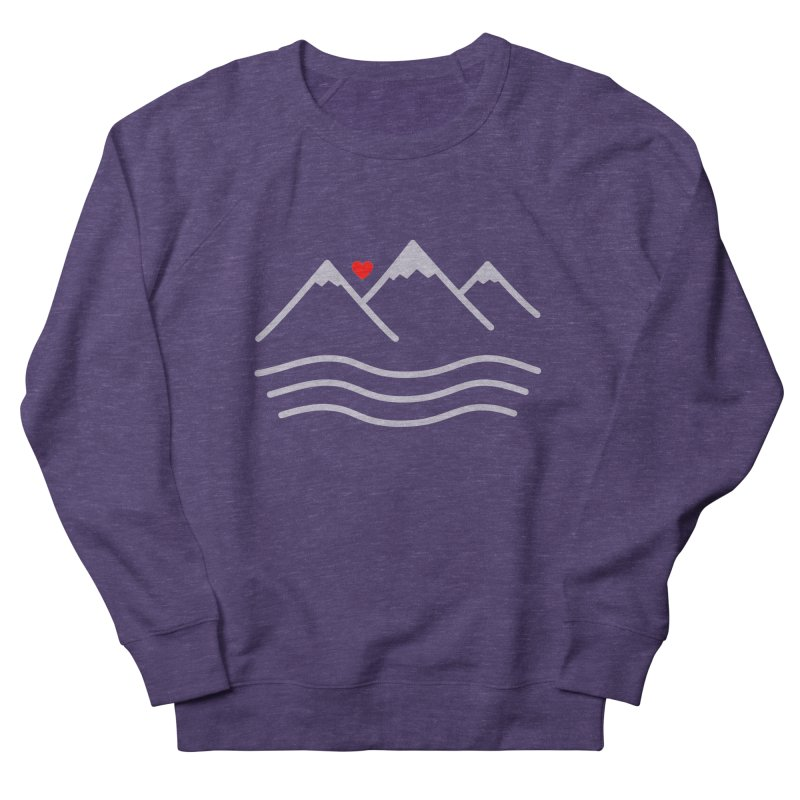 Mountains and Oceans Women's French Terry Sweatshirt by Sketchbook B