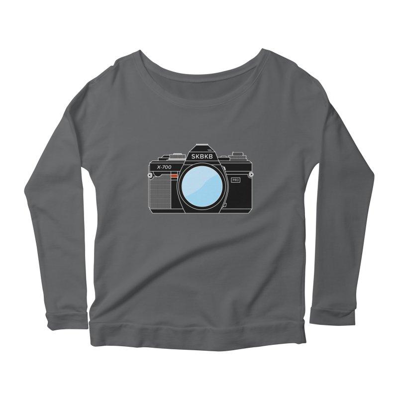 First Camera Women's Scoop Neck Longsleeve T-Shirt by Sketchbook B