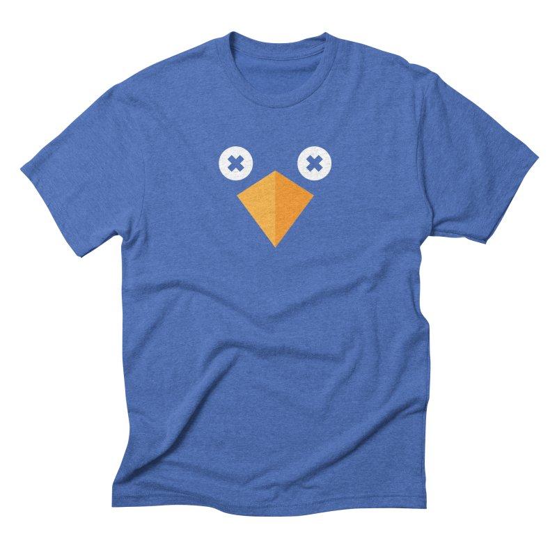 Twitterless in Men's Triblend T-Shirt Blue Triblend by Sketchbook B