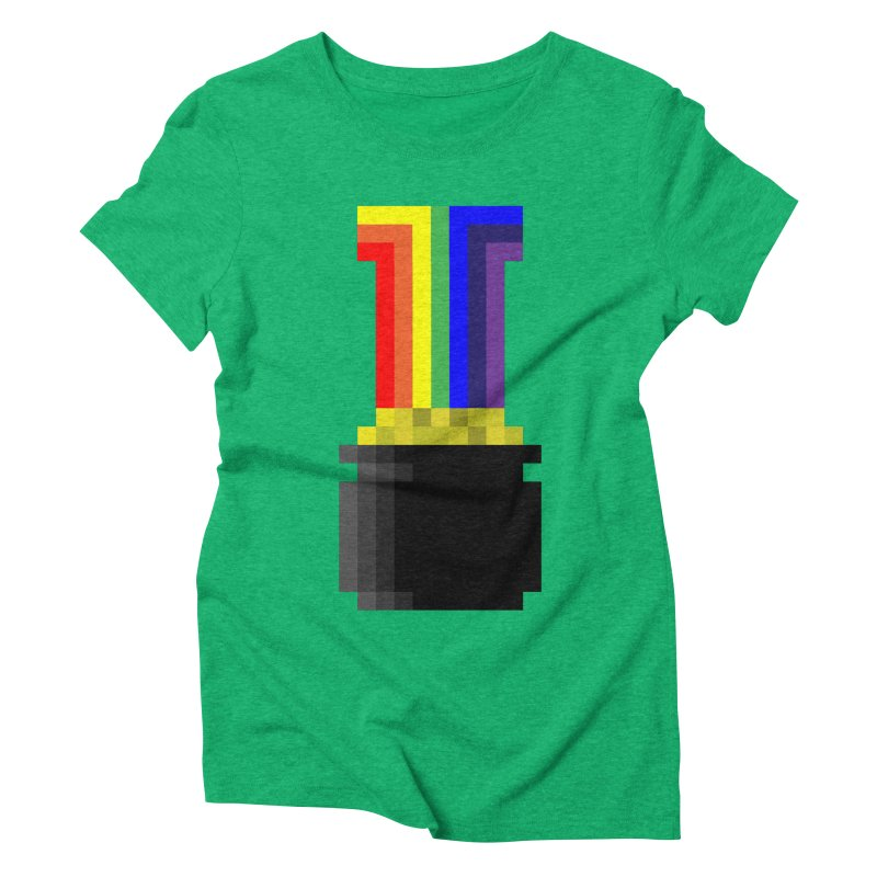 Lucky in Women's Triblend T-Shirt Tri-Kelly by Sketchbook B
