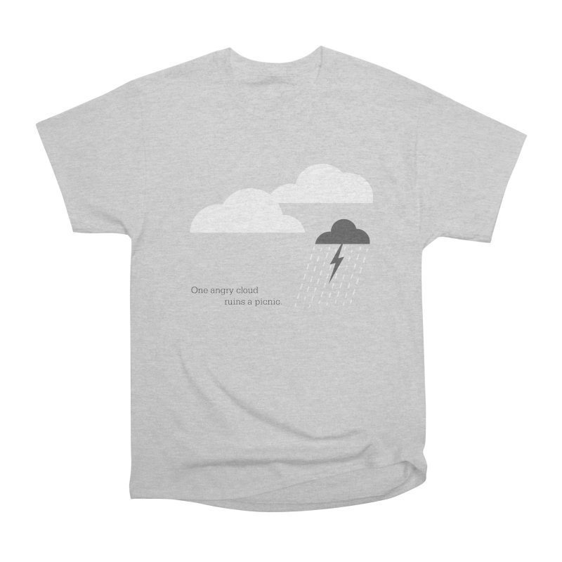 One angry cloud ruins a picnic. Men's Heavyweight T-Shirt by Sketchbook B