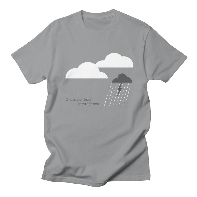 One angry cloud ruins a picnic. Men's Regular T-Shirt by Sketchbook B