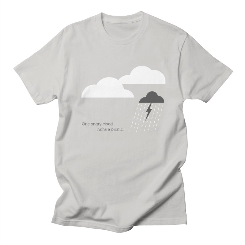One angry cloud ruins a picnic. Men's T-Shirt by Sketchbook B