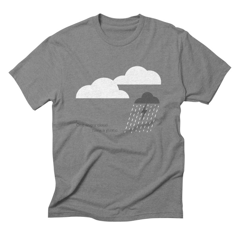 One angry cloud ruins a picnic. Men's Triblend T-Shirt by Sketchbook B