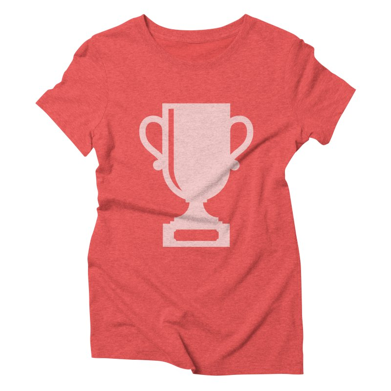 Trophy in Women's Triblend T-Shirt Chili Red by Sketchbook B