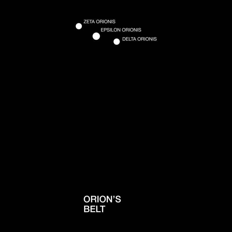 Orion's Belt Men's T-Shirt by Sketchbook B