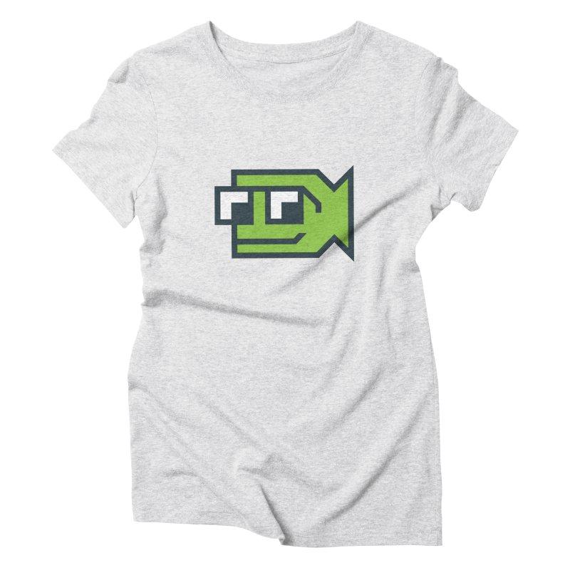 Bold Fish, Big Ocean Women's Triblend T-Shirt by Sketchbook B