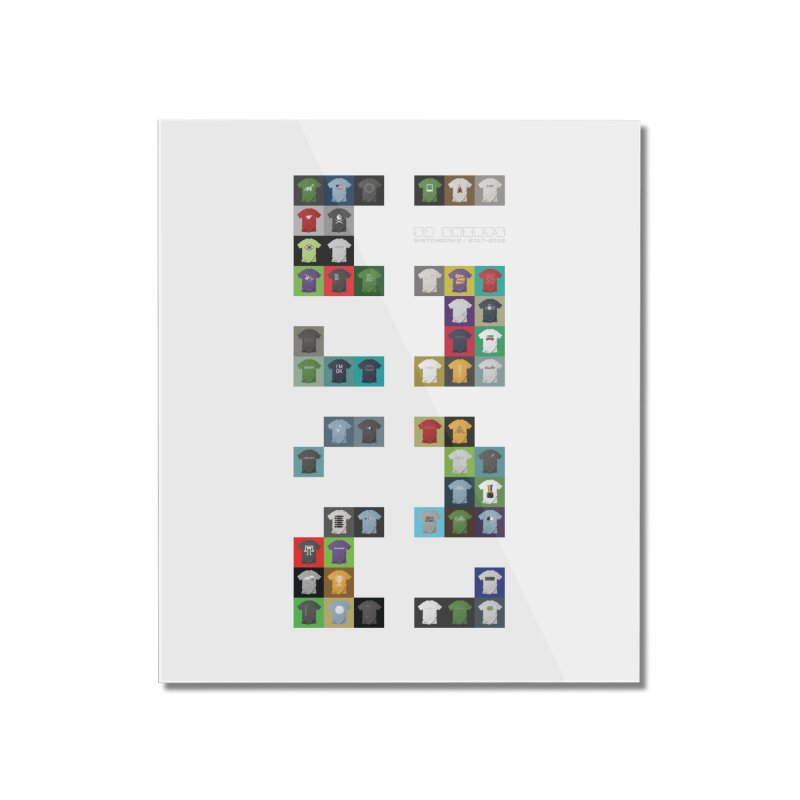 52 Shirts Home Mounted Acrylic Print by Sketchbook B