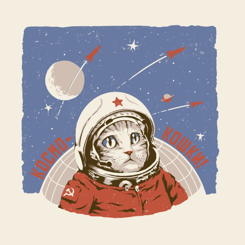 Soviet Space Cat None  by sketchboy01's Artist Shop
