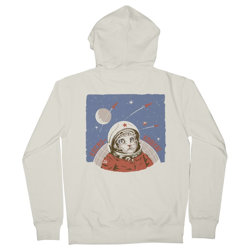 Soviet Space Cat Women's Zip-Up Hoody by sketchboy01's Artist Shop